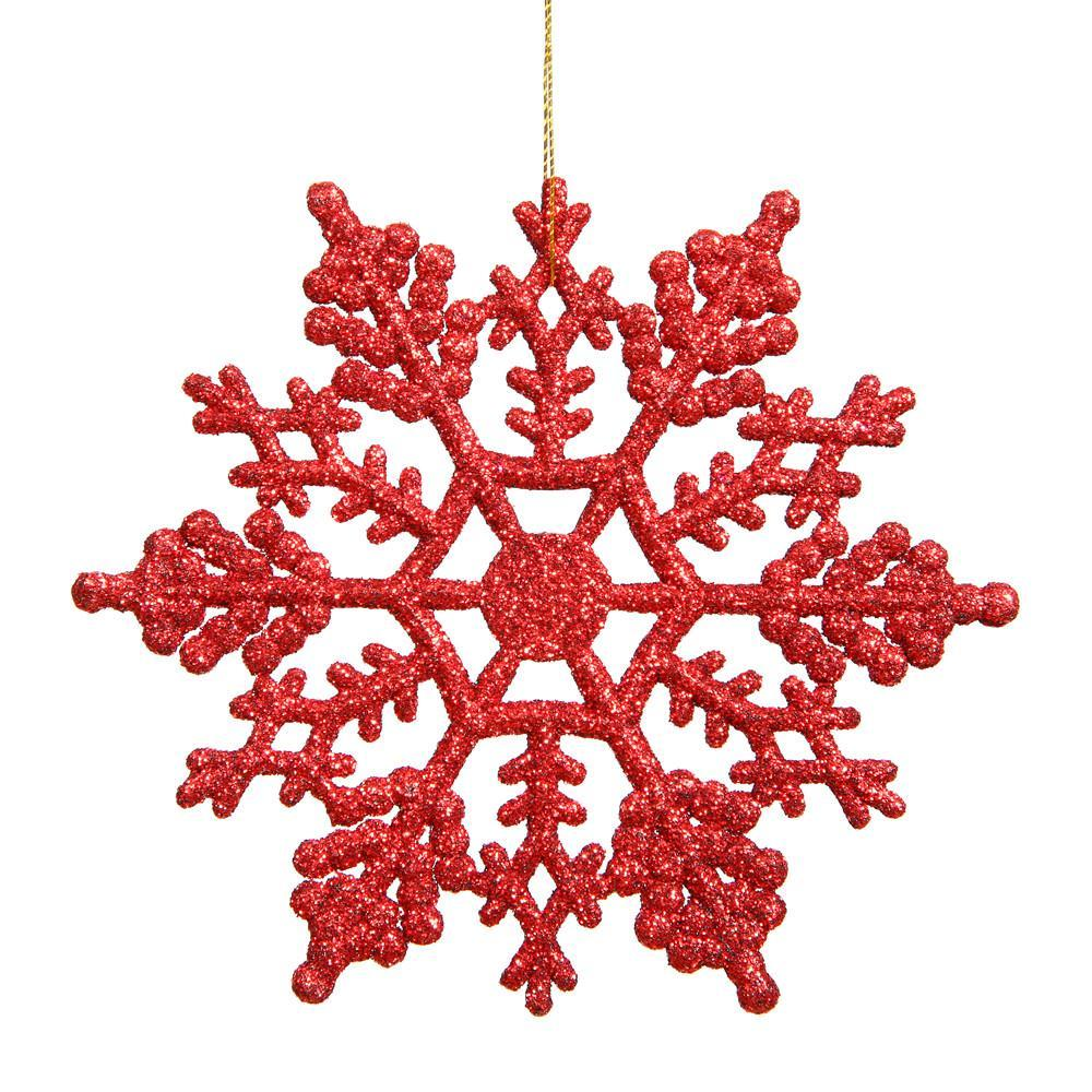 Red 20cm Snowflake, Pkt 12 - My Christmas