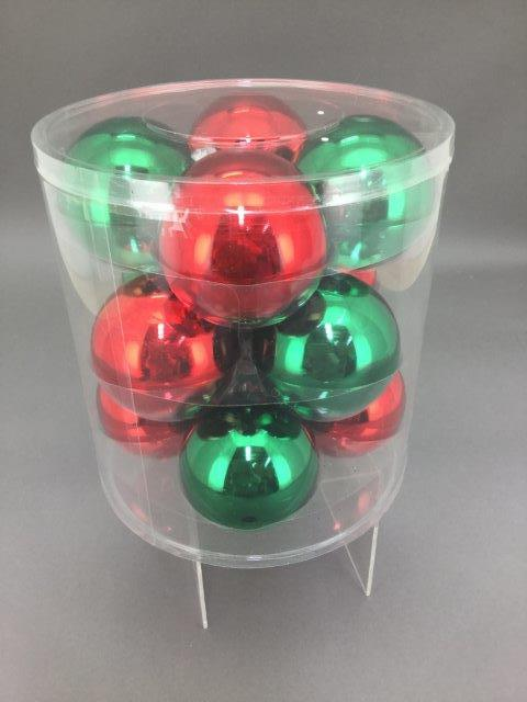Red and Green ball pack, 8cm - My Christmas