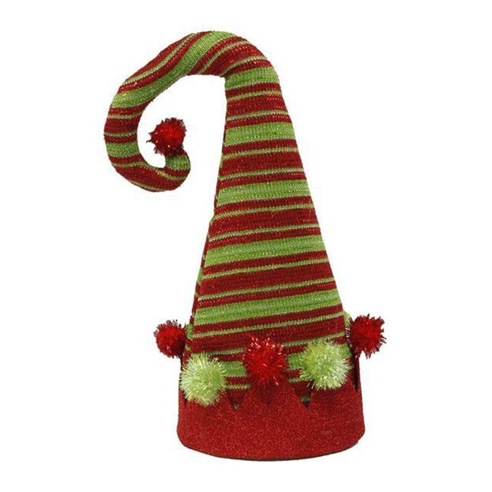 Red And Green Elf Hat Tree Topper - My Christmas