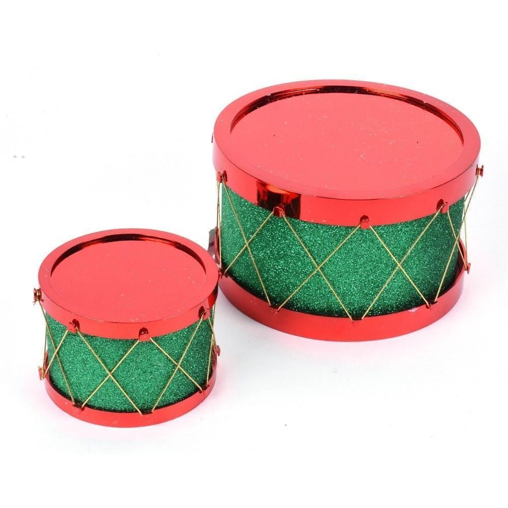 Red And Green Glitter Drum Set - My Christmas