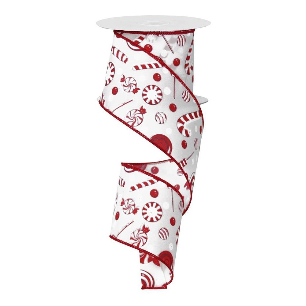 Red And White Candy Ribbon - My Christmas