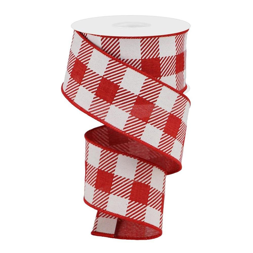 Red And White Check Ribbon - My Christmas