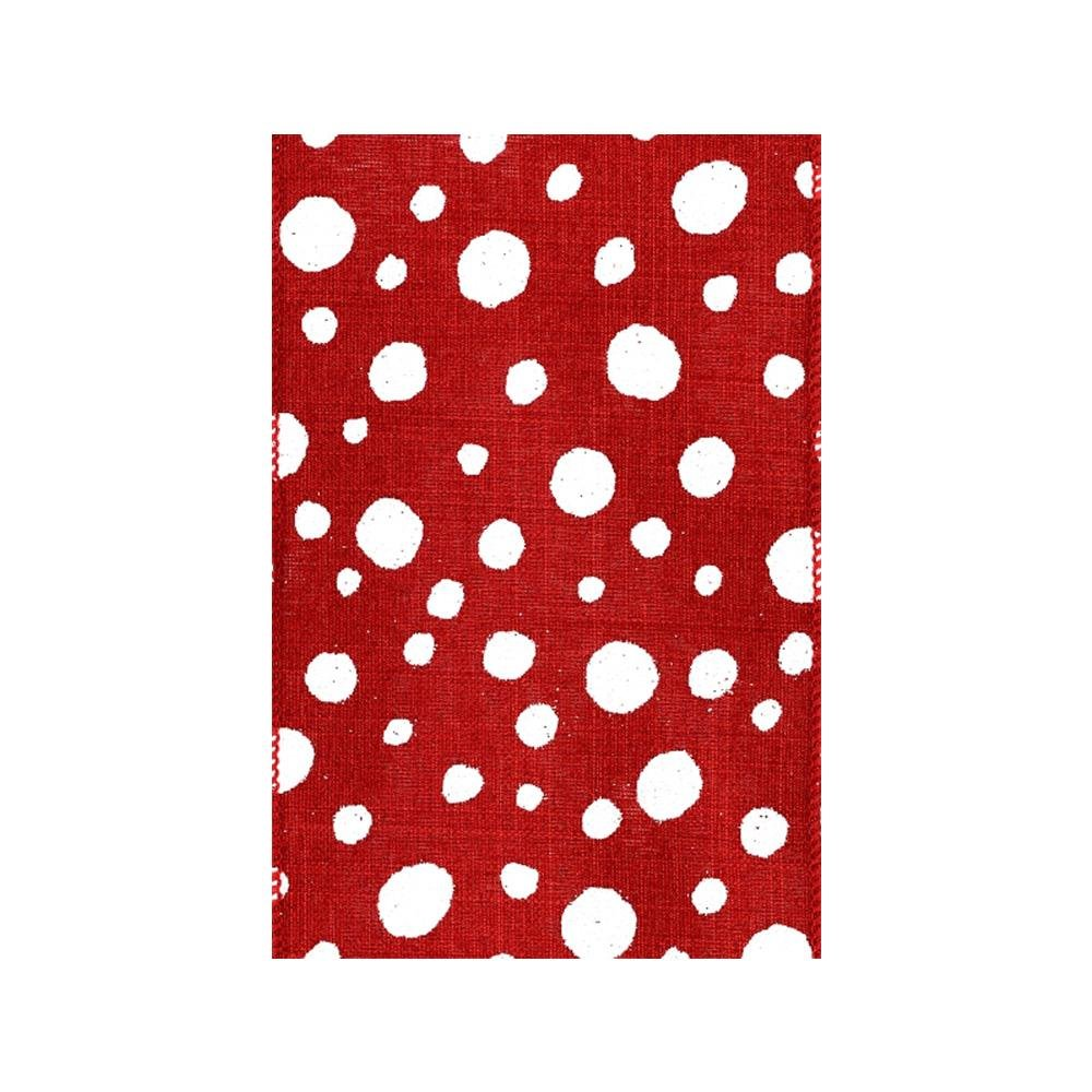Red and White Polka Dot Ribbon - My Christmas
