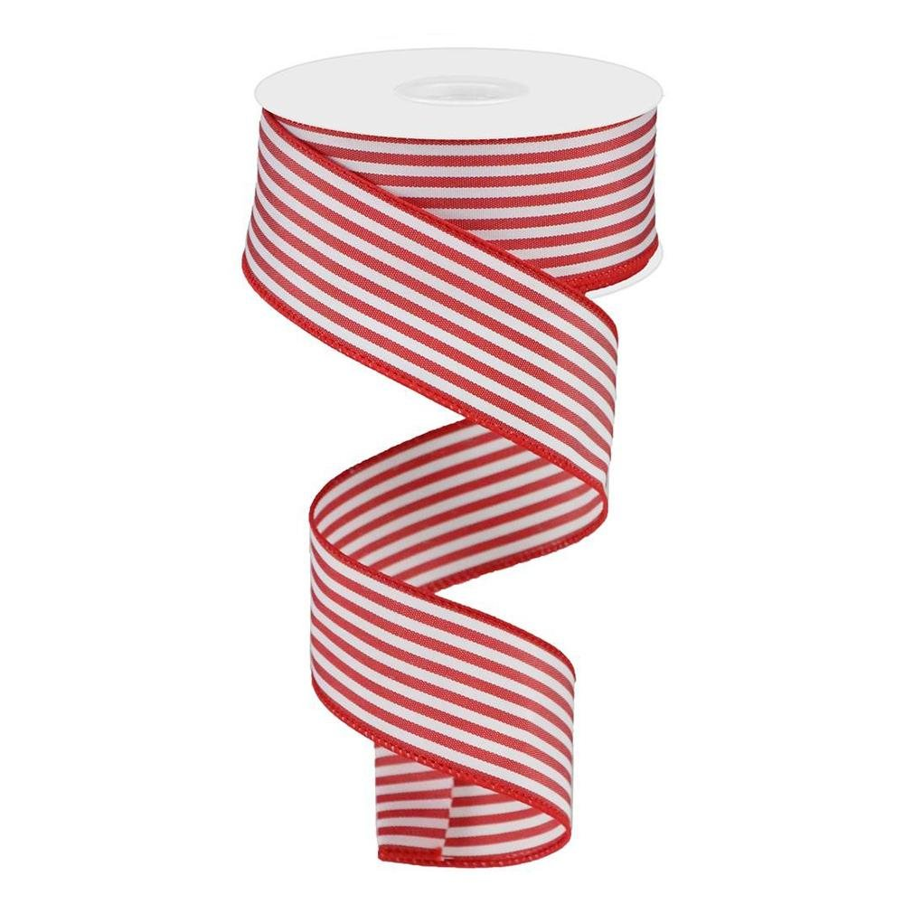 Red And White Stripe Ribbon - My Christmas