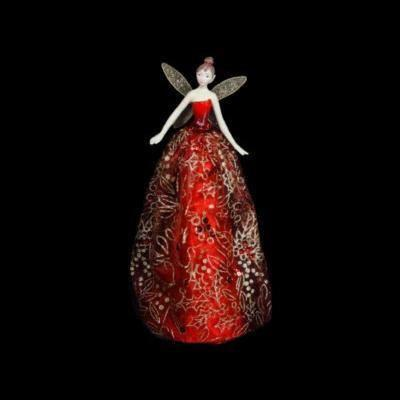 Red Angel Tree Topper - My Christmas