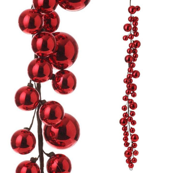 Red Bauble Garland, 1.2m - My Christmas