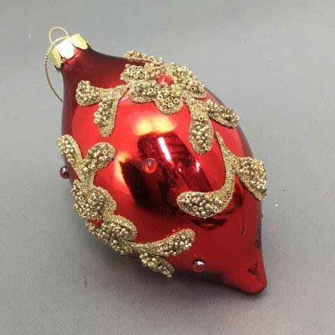 Red / Gold Finial - My Christmas
