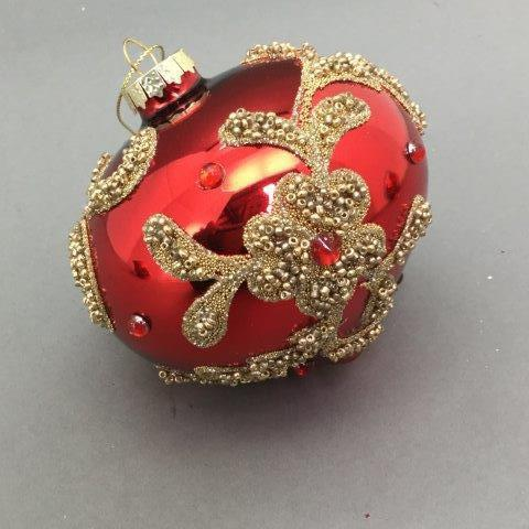 Red & Gold Onion Ornament - My Christmas