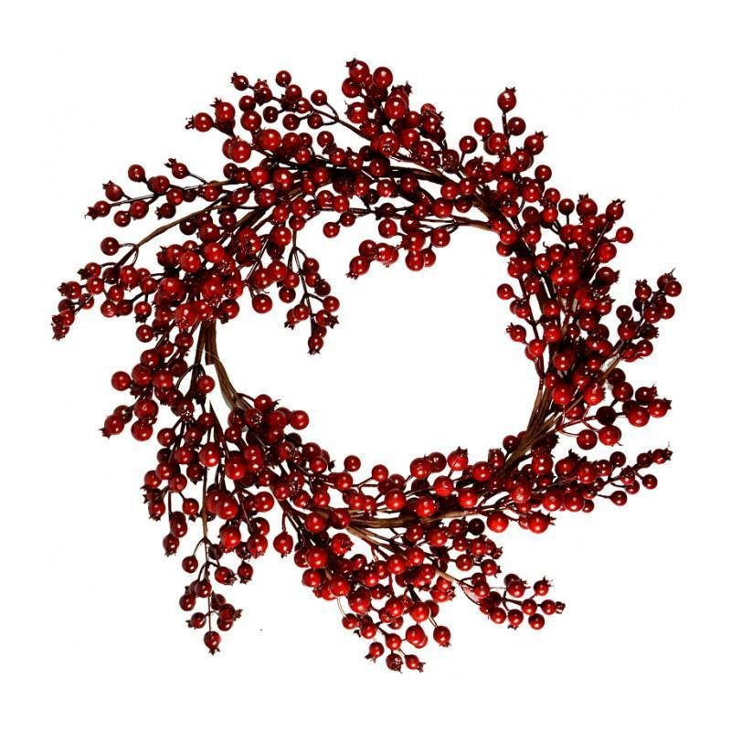 Red Holly Berry Wreath, 48cm - My Christmas