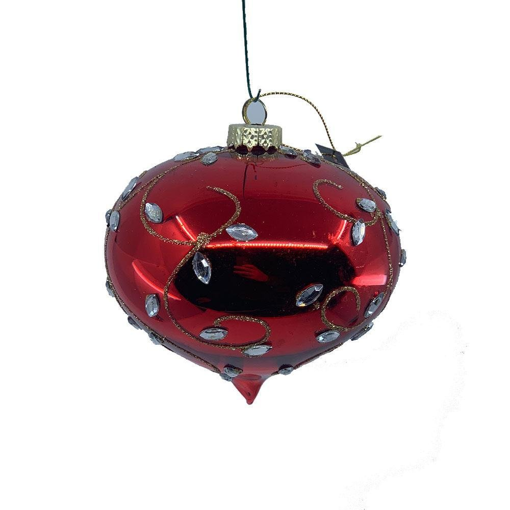 Red Leaf Hanging Drop Ornament - My Christmas