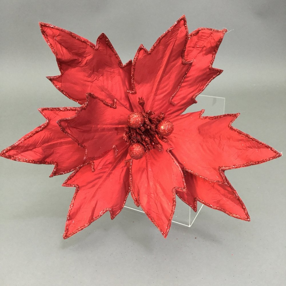 Red Poinsettia Pick - My Christmas