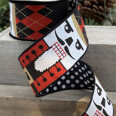 Red / White / Black Nutcracker Ribbon - My Christmas