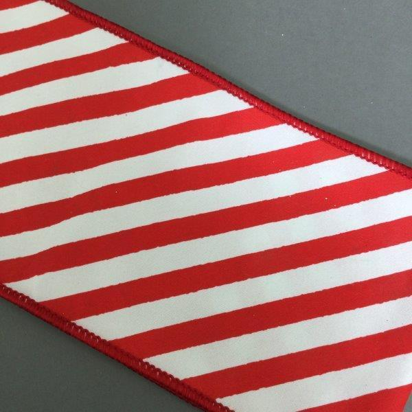 Red White Stripped Ribbon - My Christmas