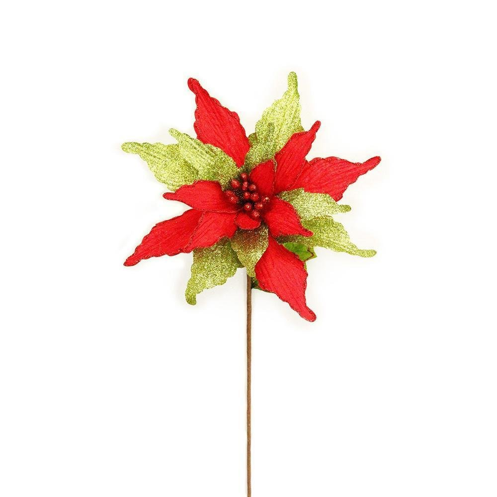 Red/Green Poinsettia - My Christmas