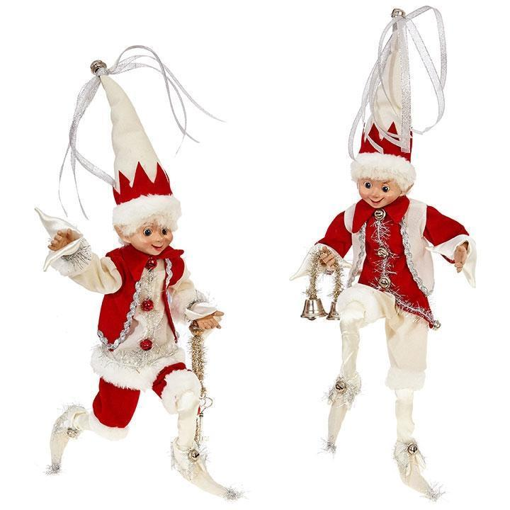 Red/White Posable Elf, 40cm - My Christmas