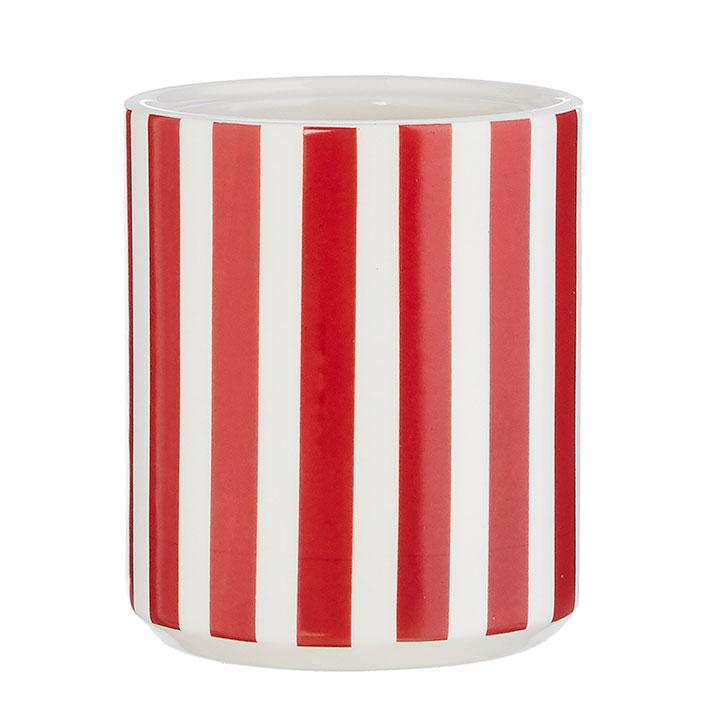 Red/White Striped Container - My Christmas