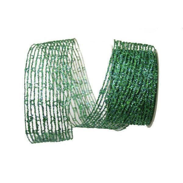 Ribbon, Blue/Green Net - My Christmas