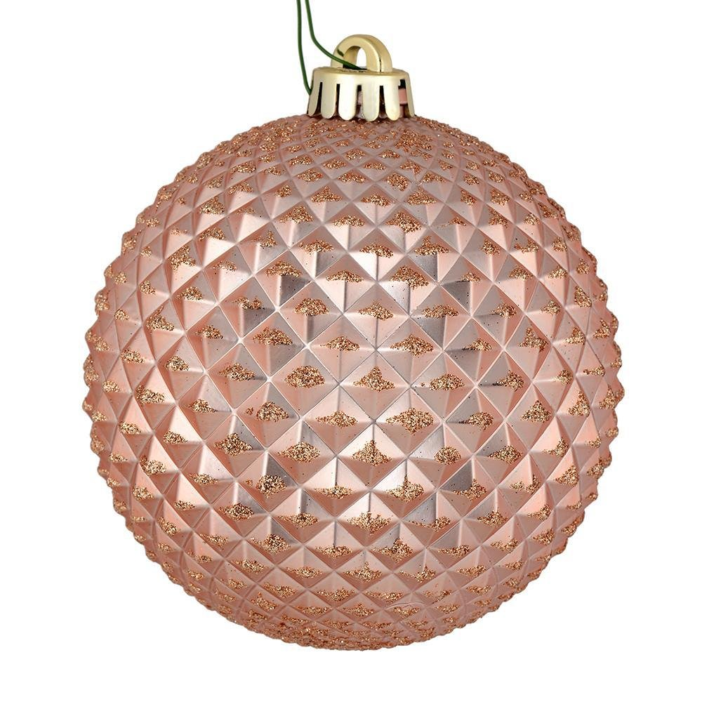 Rose Gold Durian Ball, 10cm - My Christmas