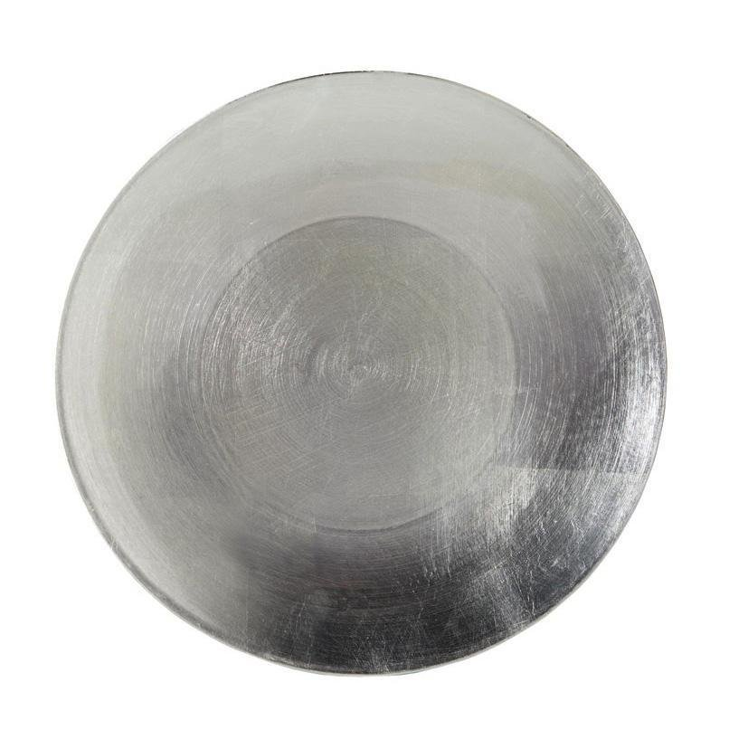Round Silver Charge Plate - My Christmas