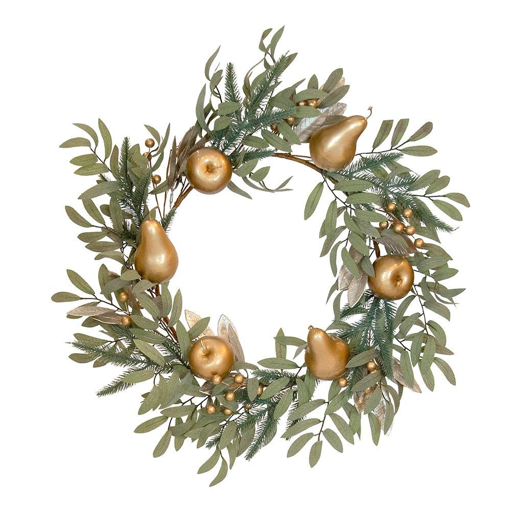 Sage And Fruit Wreath - My Christmas