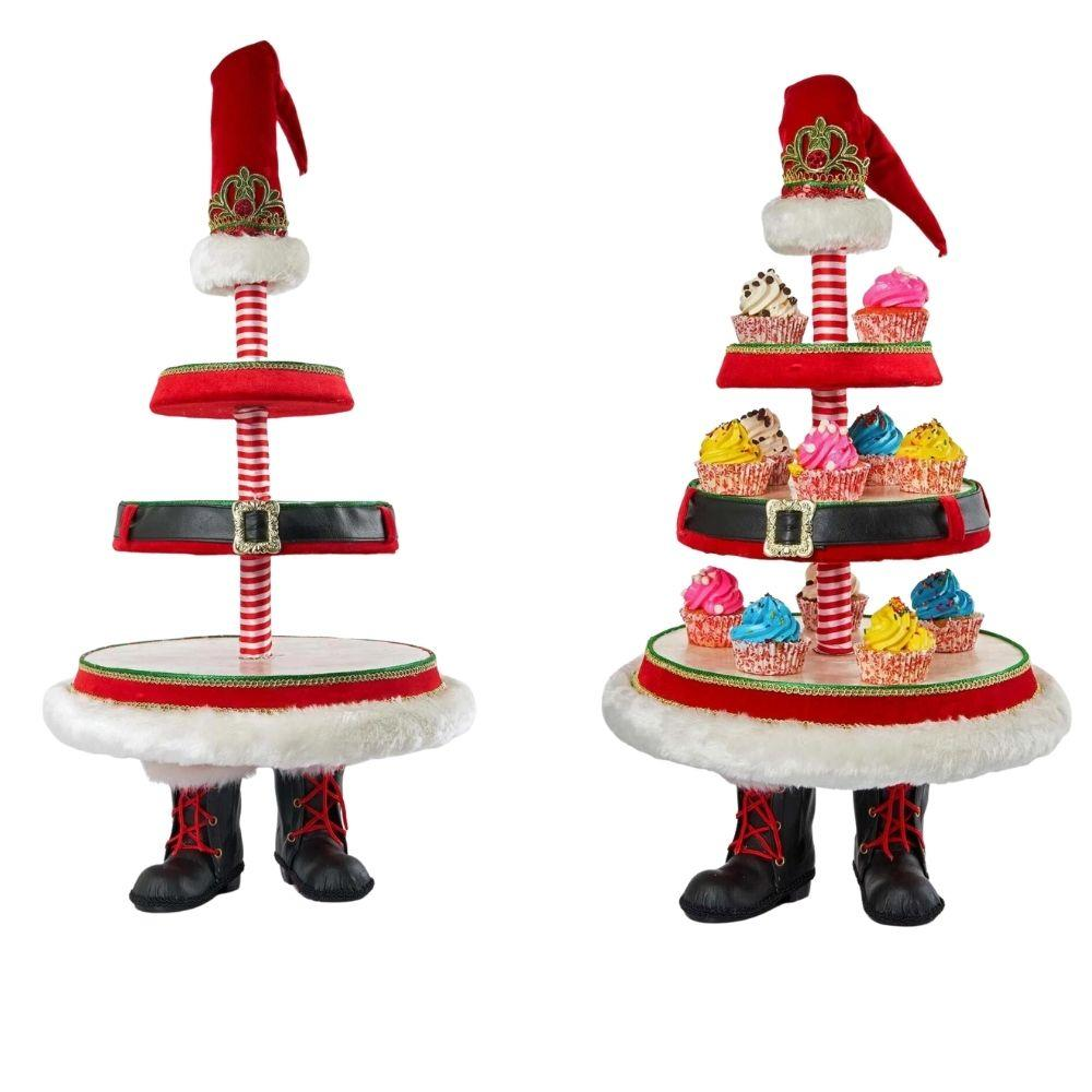 Santa Boot Tiered Stand - My Christmas