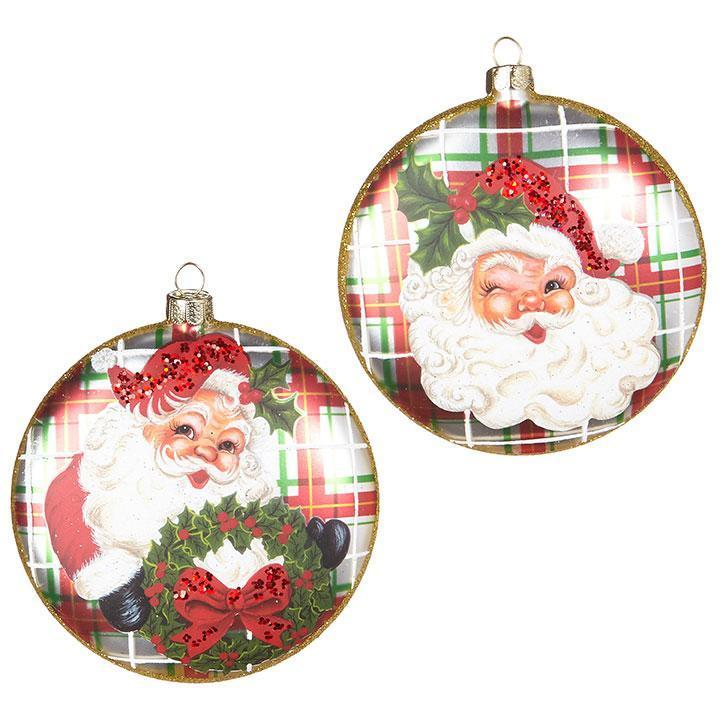 Santa Disc Ornament - My Christmas