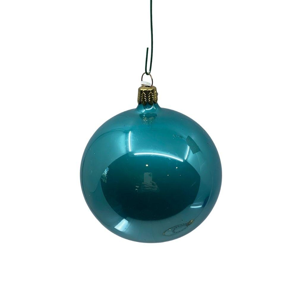 Sea Green Pearl bauble, 9cm. - My Christmas