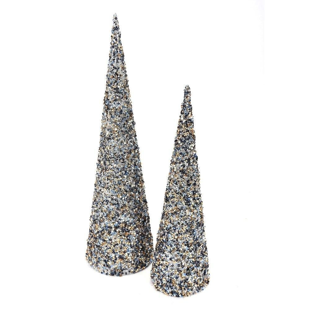 Sequin Glitter Cone Tree, Set - My Christmas