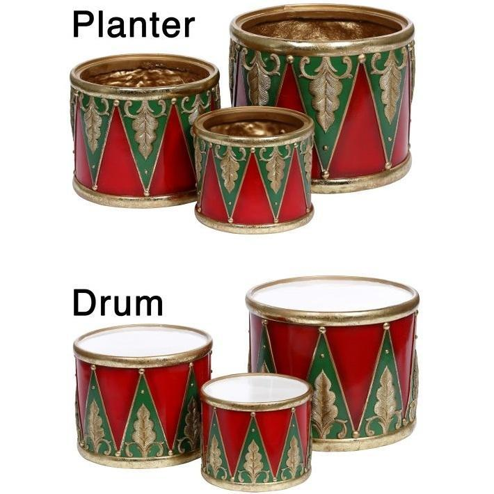 Set of 3 Drums or Planters, 25cm - My Christmas