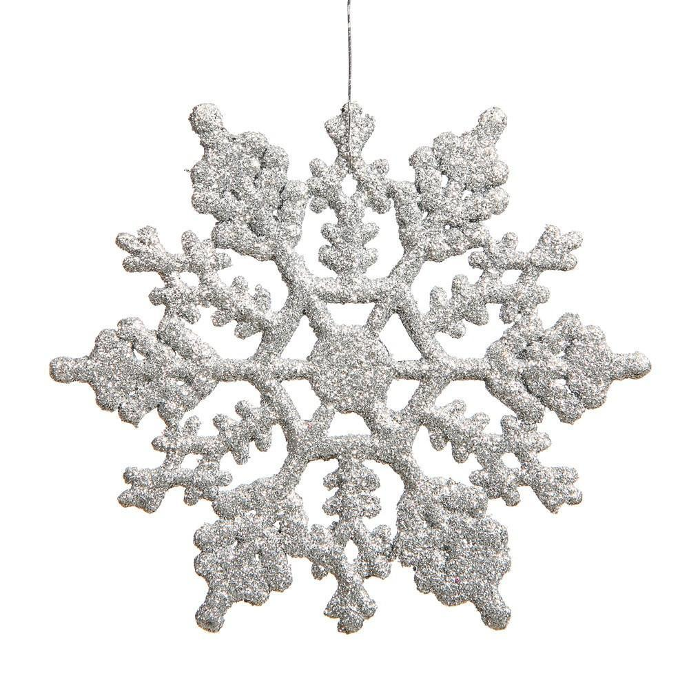 Silver 20cm Snowflake, Pkt 12 - My Christmas