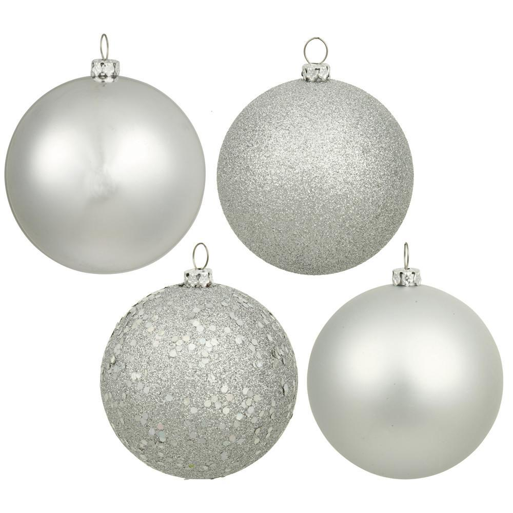 Silver Baubles, Various Sizes - My Christmas