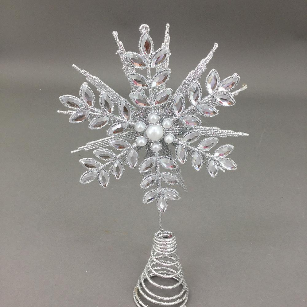 Silver Crystal Tree Topper - My Christmas