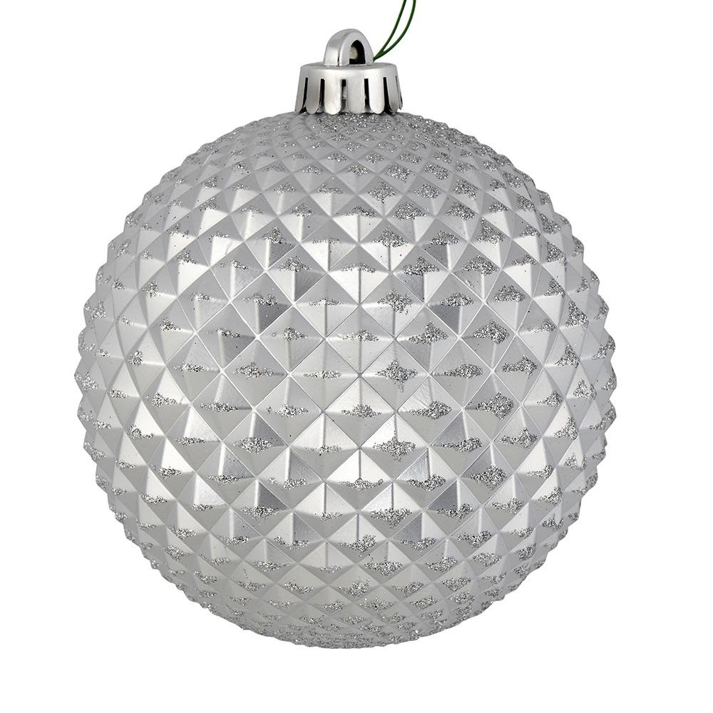 Silver Durian Ball, 10cm - My Christmas
