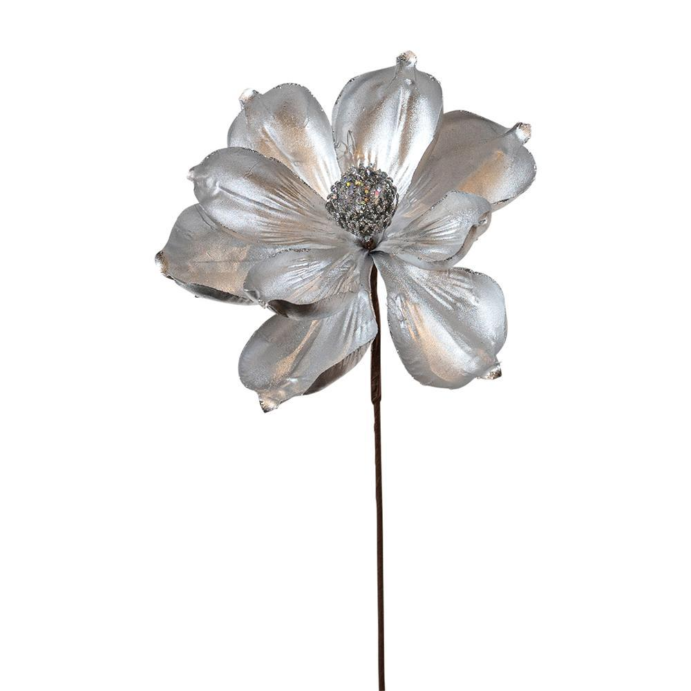 Silver Magnolia Pick - My Christmas
