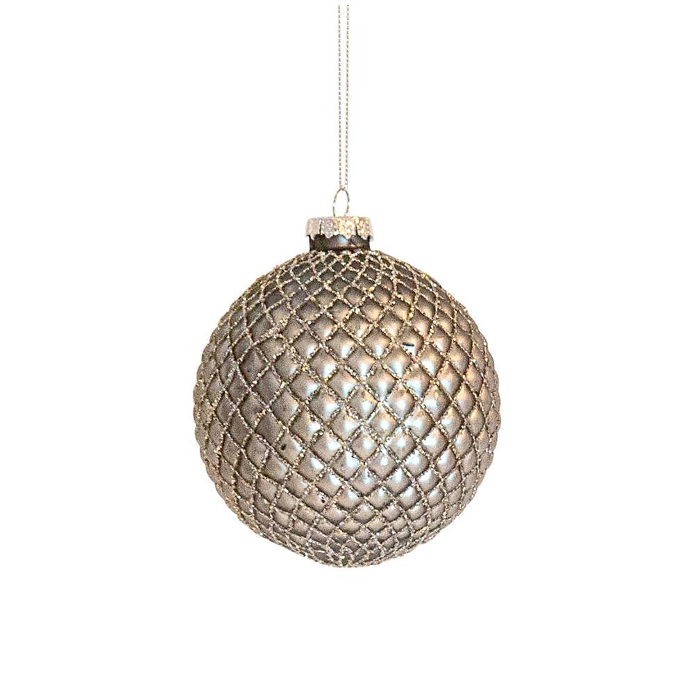 Silver Quilt Bauble - My Christmas