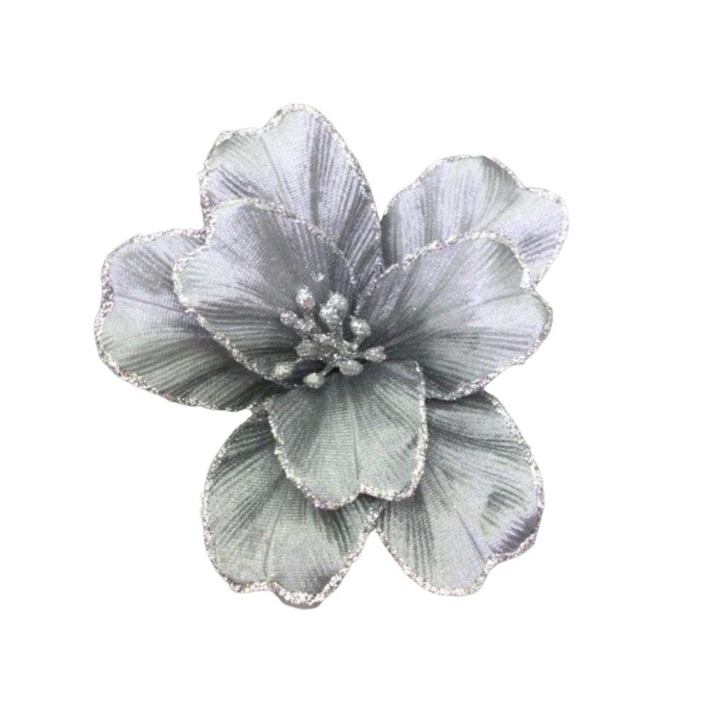 Silver Small Flower - My Christmas