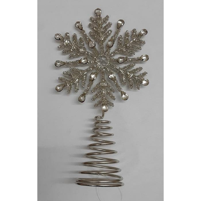 Silver Snowflake Tree Topper - My Christmas