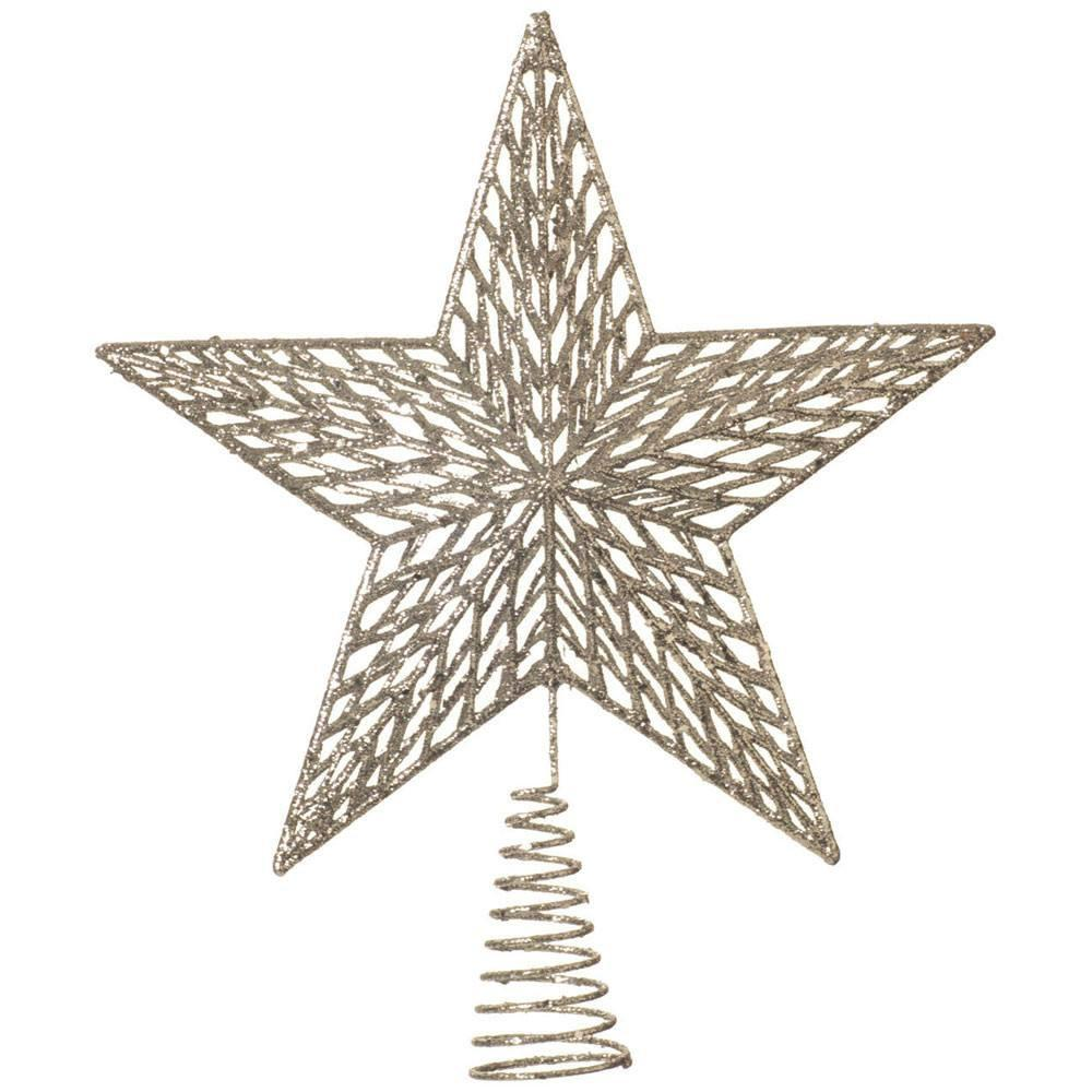 Silver Star Tree Topper - My Christmas