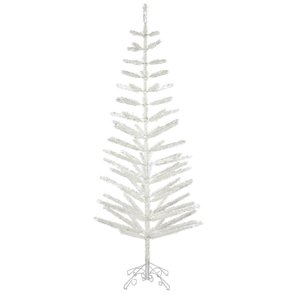 Silver Tinsel Tree, 2.1m - My Christmas