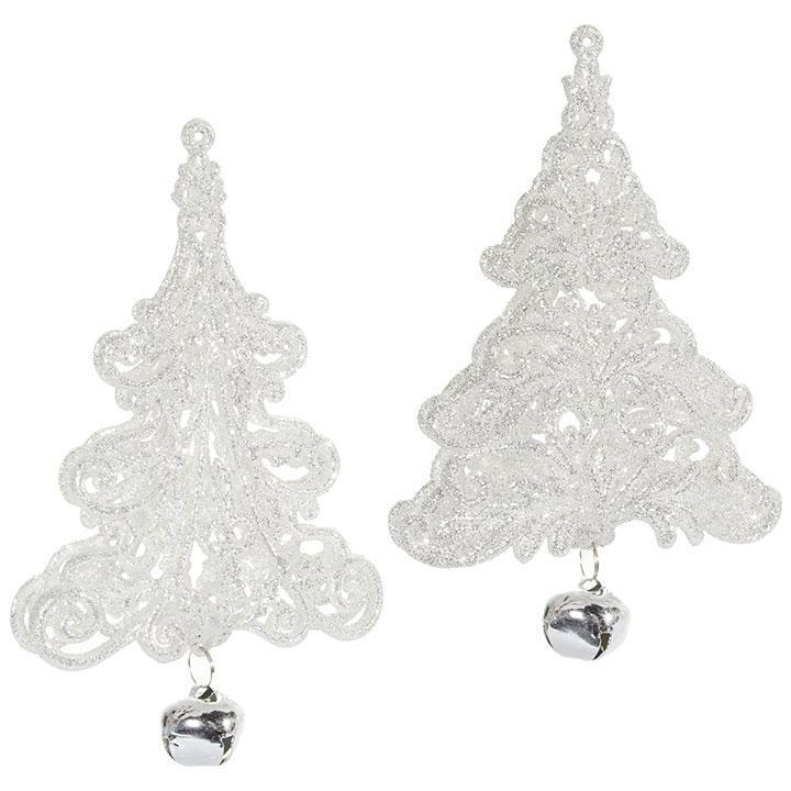 Silver Tree w/Bell Ornament - My Christmas