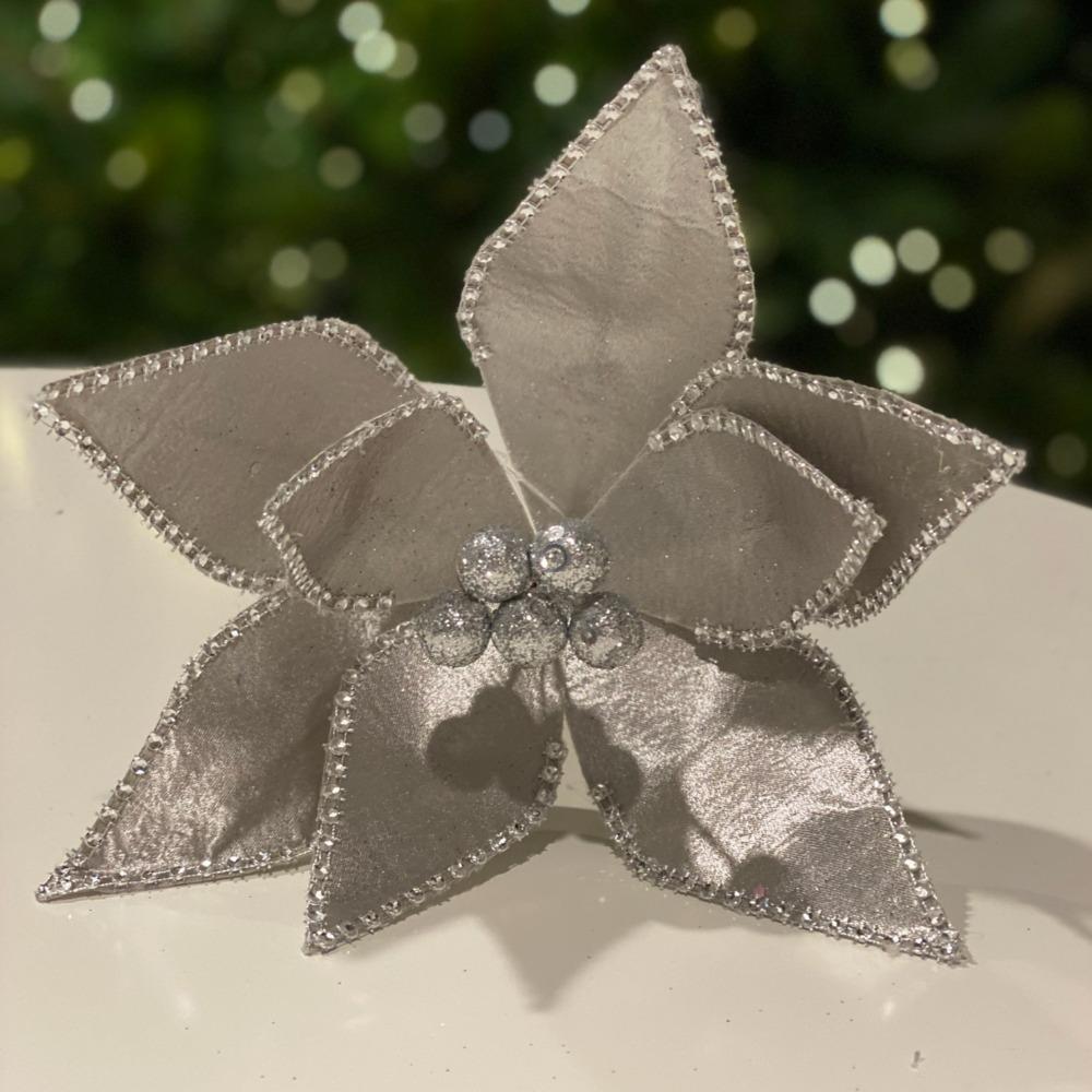Silver/Pewter Poinsettia - My Christmas