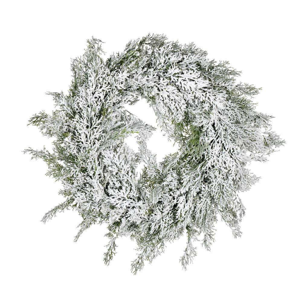 Snowy Cedar Wreath, 60cm - My Christmas