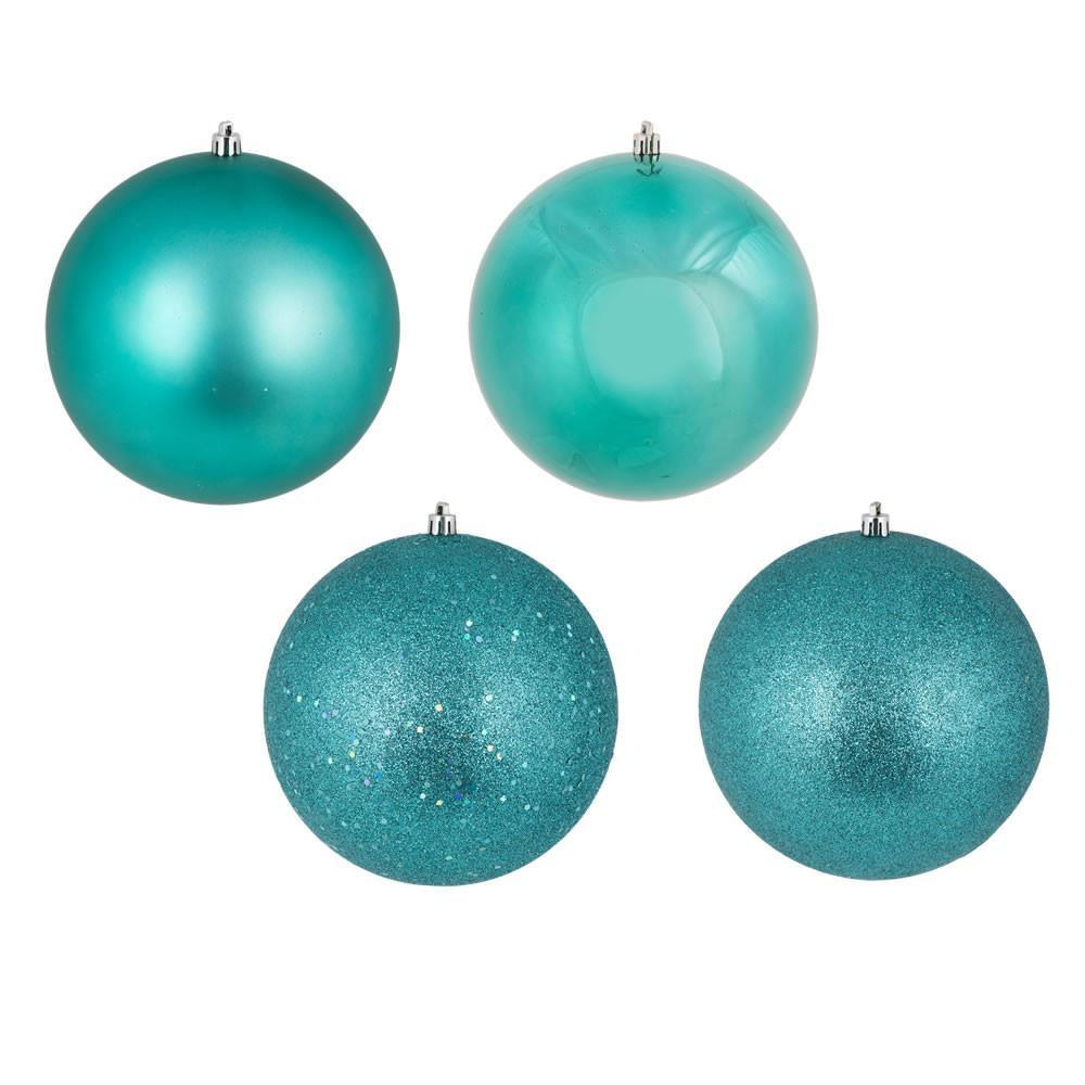 Teal 10cm Bauble, 12 Pkt - My Christmas