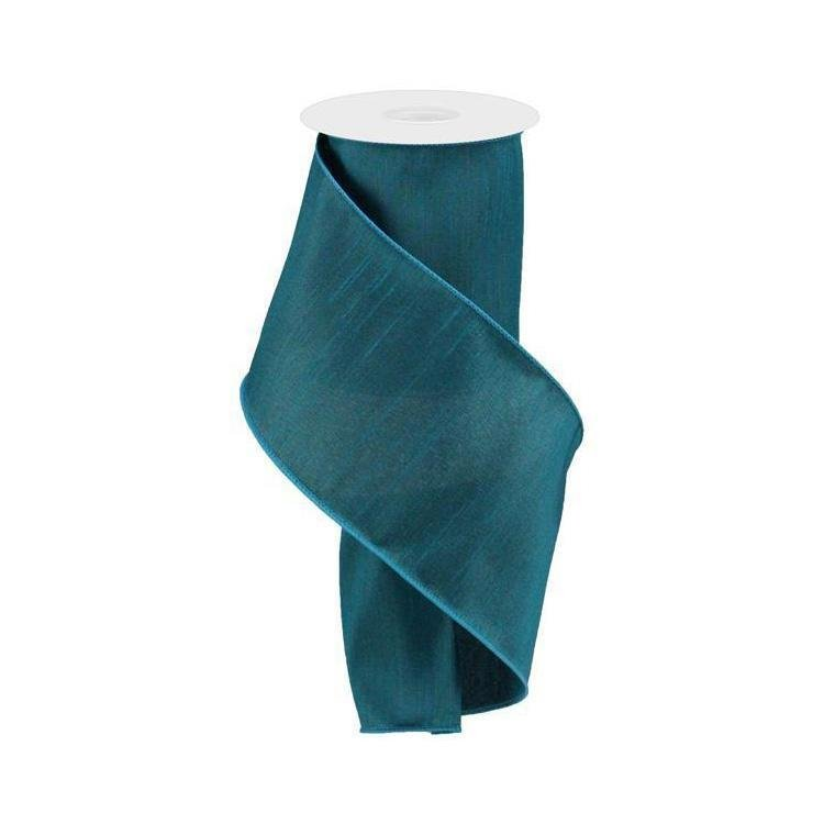 Teal Faux Dupion Ribbon - My Christmas