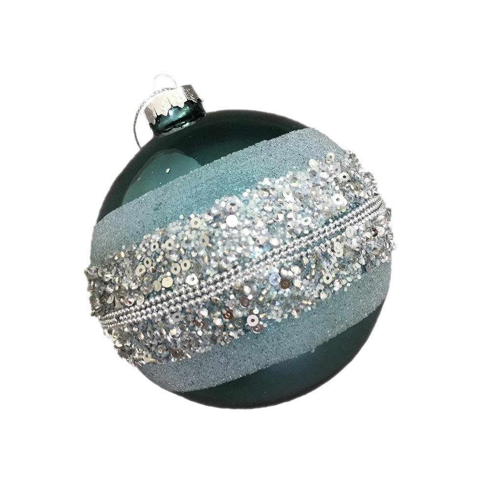 Teal Hanging Ball Ornament - My Christmas