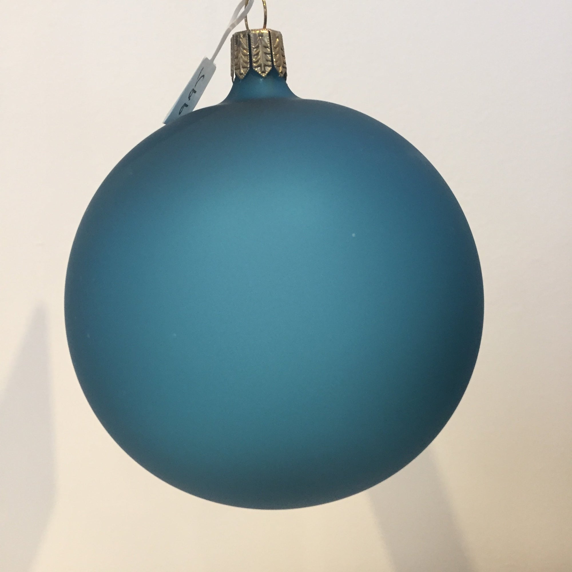 Teal Matte Bauble, 9cm. - My Christmas