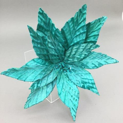 Teal Poinsettia - My Christmas