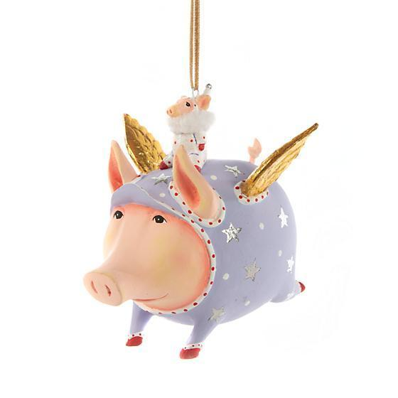 Tinkerbelle Flying Pig Ornament - My Christmas
