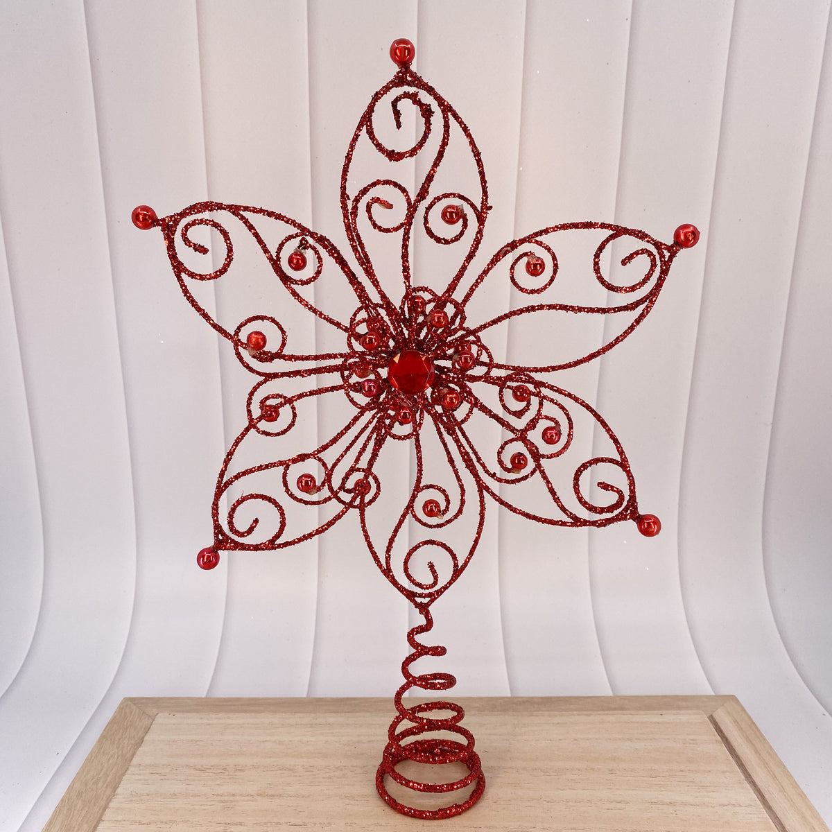 Tree topper, red - My Christmas