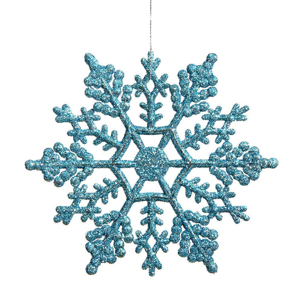 Turquoise 16cm Snowflake,Pkt 12 - My Christmas